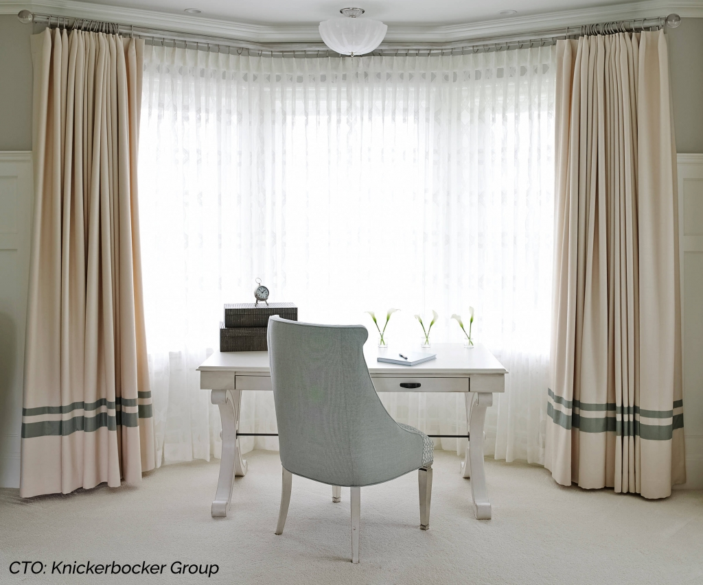 Home Interior with Curtains